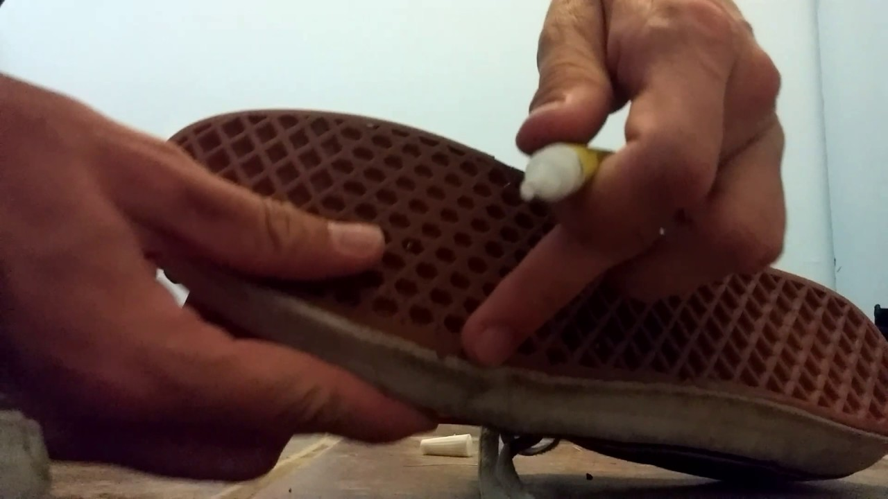 cbf73db88fb3 How to repair your VANS shoes! - YouTube