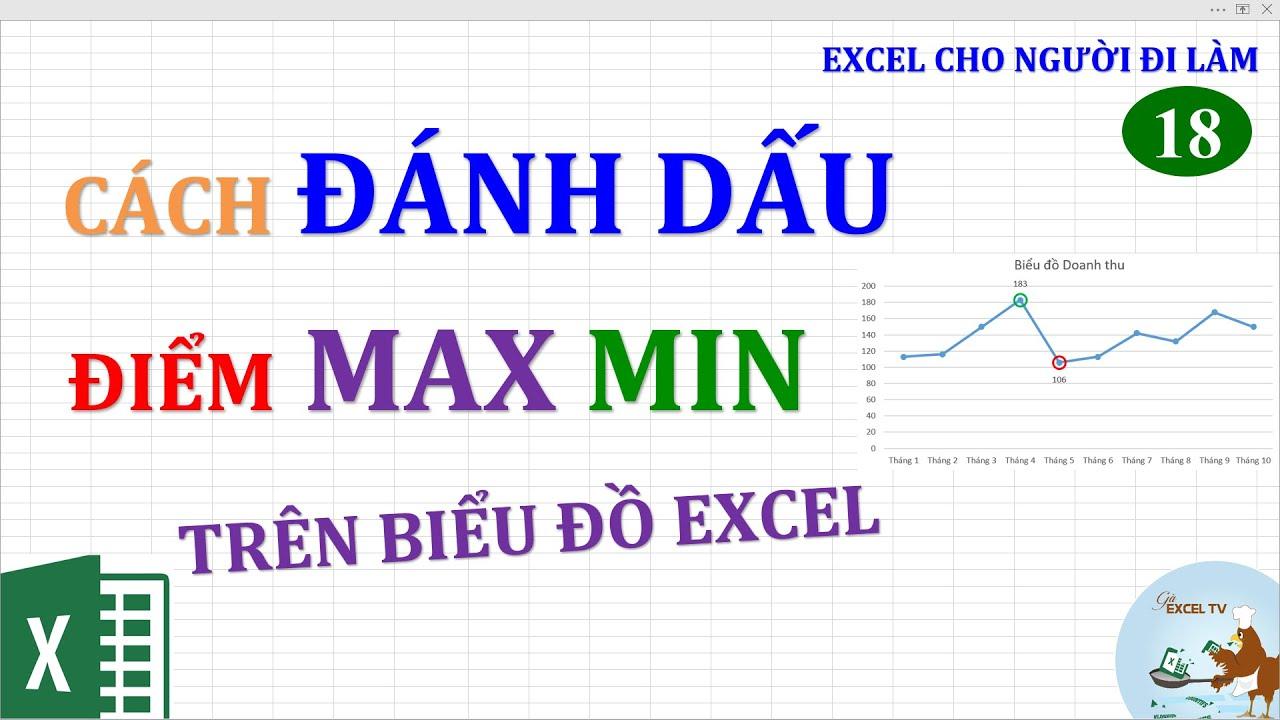 Excel cho người đi làm | #18 Cách đánh dấu điểm MAX MIN trên biểu đồ Excel