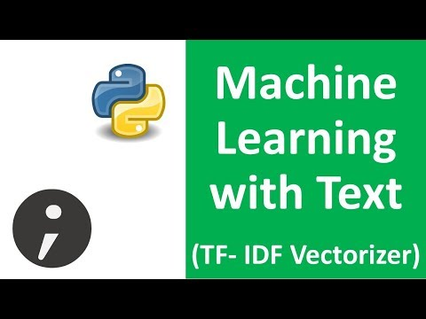 Machine Learning with Text  - TFIDF Vectorizer MultinomialNB Sklearn (Spam Filtering example Part 2)