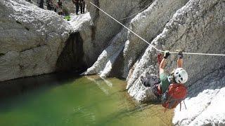 I Sirboni canyon GORROPU attraversamento integrale con teleferica calate e canotti
