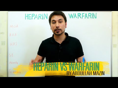 مقارنة بين الهيبارين و الوارفرين Heparin Vs Warfirin (عبدالله مازن)