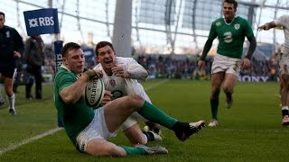 Super Robbie Henshaw Try, Ireland v England, 1st March 2015