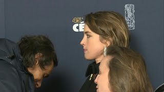 Actress Adèle Haenel arrives at the 45th Cesar Awards ceremony | AFP
