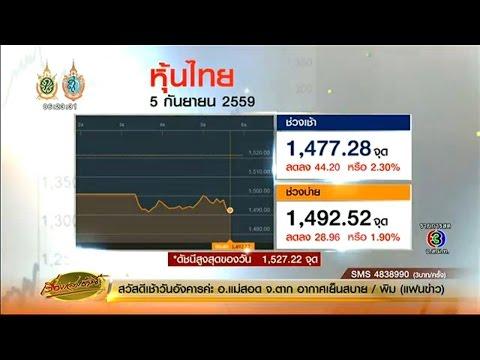 เรื่องเล่าเช้านี้ หุ้นไทยปิดตลาดดิ่งเหว เตือนนักลงทุนอย่าตื่นตระหนกข่าวลือ