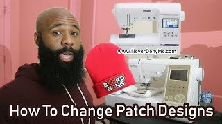How To Sew A Removable Embroidery Patch Into A Beanie | Brother SE1900 Embroidery Machine
