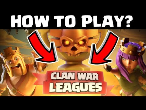 HOW TO PLAY CLAN WAR LEAGUES, CLASH OF CLANS INDIA