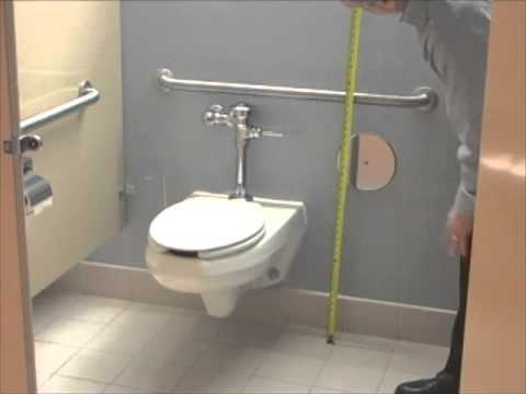 How to measure toilet and grab bars of an accessible stall - Handicap bars for bathroom toilet ...