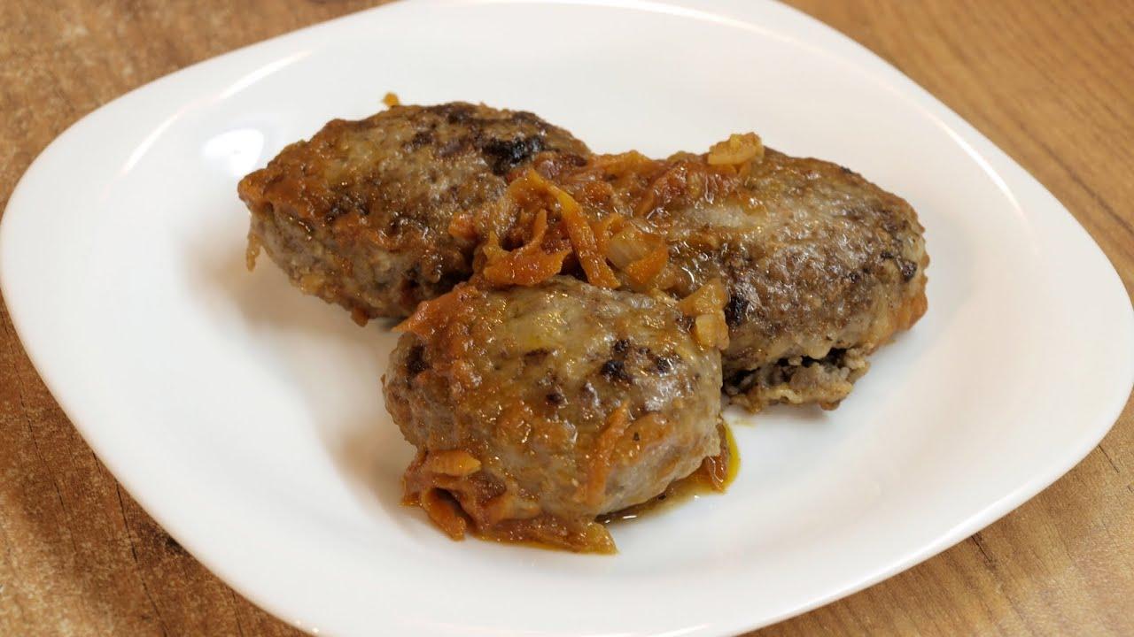 Гречаники по-украински готовим дома / Buckwheat cutlets with meat ♡ English subtitles