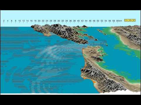 Simulation of a Tsunami Hitting San Francisco Bay Area