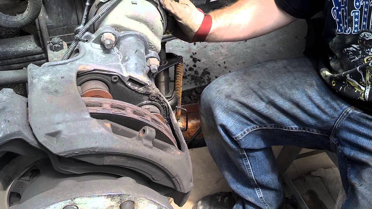 Mercedes Benz Brake Pads And Rotors >> truck air disc brake pads replacing (how to replace pads on air disc brake) - YouTube