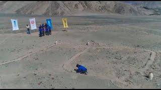 Los Sinchis y Los Urcos cumplieron su primer desafío: crear una figura de las Líneas de Nazca