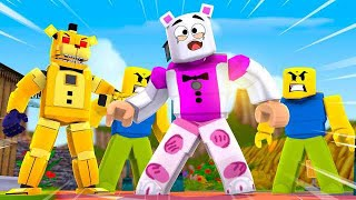 Golden Freddy Traps Funtime Freddy in Roblox ?! | Minecraft FNAF Roleplay