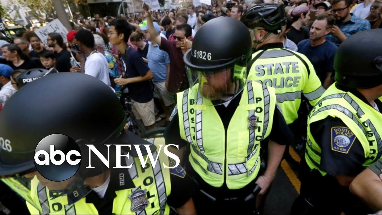 Thousands take to Boston's streets in counterprotest against 'free speech' rally