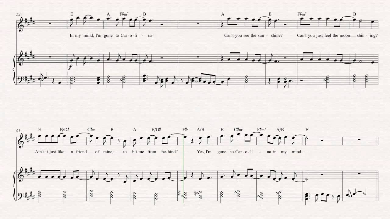 Flute carolina in my mind james taylor sheet music chords flute carolina in my mind james taylor sheet music chords vocals hexwebz Image collections