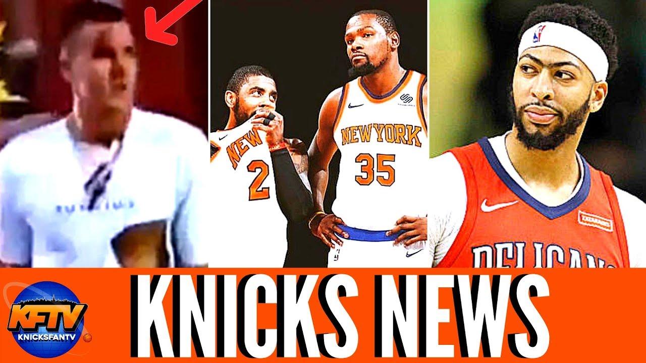 e09d6066f06 New York Knicks News: Kristaps Porzingis Fight  Kevin Durant & Kyrie ...