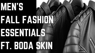 BODA SKINS LEATHER JACKET // Men's Fall Fashion Essentials Haul 2017 // Zara, H&M, Adidas, Topman