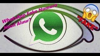 WhatsApp Fake Numara Alma 2017 ( Ücretsiz)