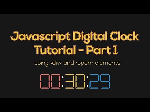 Javascript Clock Digital Tutorial using div and span elements - Part 1 -- #frontendfunn thumbnail