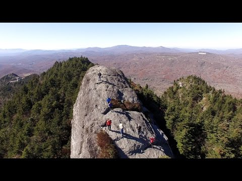 Aerial Video of Grandfather Mountain Park, North Carolina