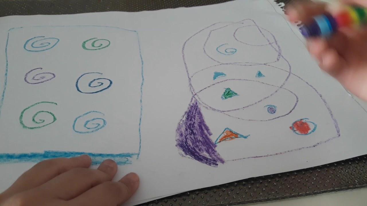 Soyut Resim çizimi Resim Dersi 1 Youtube