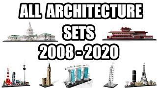 All Lego Architecture Sets From 2008 2020 Lego Architecture History Youtube