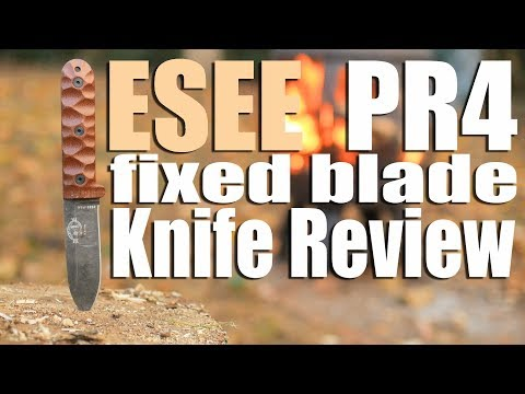 Esee PR4 Fixed Blade Knife Review.  A 4 incher design by Patrick (Not Henry) Rollins.