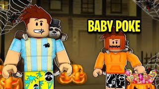 So I Took Baby Poke Trick Or Treating.. (Roblox)