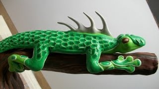 Lizard demo, part 4 (trim and spikes) +glow photo's!!