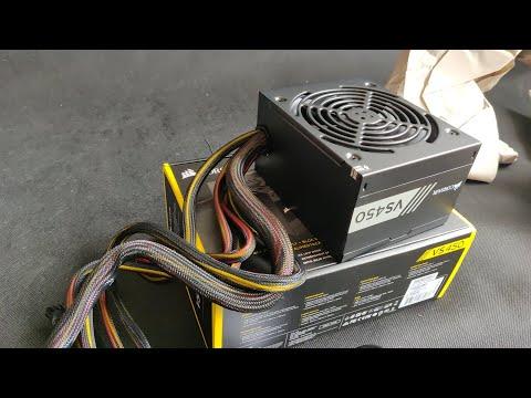 Best PC Power Supply Corsair VS450 450 Watt Power Supply Unboxing Review
