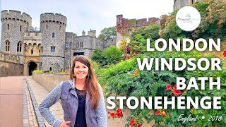 London, Windsor, Bath & Stonehenge • England | Travel Vlog