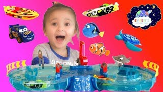 ZURU Micro Boats Racing Track Playset Toy for Kids Shark Attack Disney Pixar Cars 3 Finding Dory