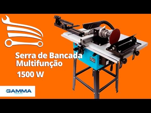 Serra De Bancada Multifuncao 1500w G690br Gamma Loja Do Mecanico