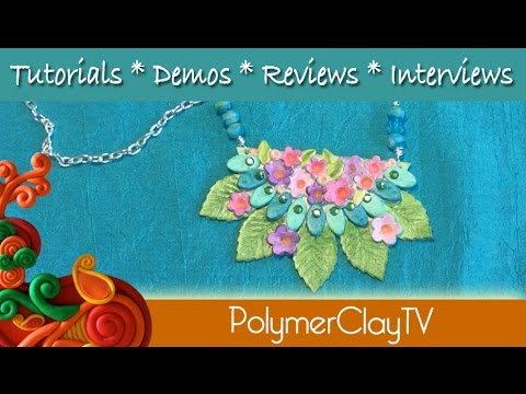 A Fun technique for coloring polymer clay with markers to create art ...
