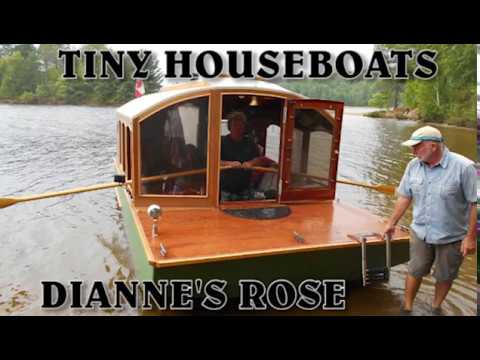 HOUSEBOATS, Tiny Houseboat Builds.