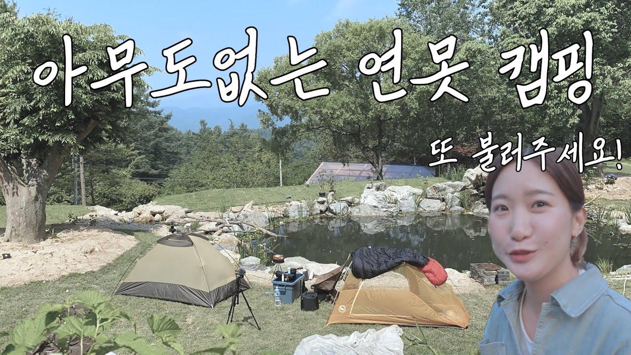김줄스님의 가물치 연못에서 캠핑! 아무도 없어요..개구리와 동물 친구들뿐..!ㅣ 니모 아톰 2p  l feat. 수키의하루살이