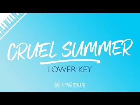 cruel-summer-(lower-piano-karaoke)-taylor-swift