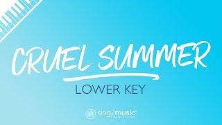 Cruel Summer (LOWER Piano Karaoke) Taylor Swift