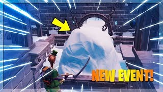 🔴 SOMETHING IS ABOUT TO HAPPEN AT POLAR PEAK! NEW SNOWFALL SKIN // FORTNITE BATTLE ROYALE