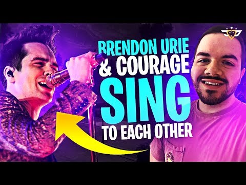 I MET BRENDON URIE! I CAN'T BELIEVE WE PLAYED! (Fortnite: Battle Royale)