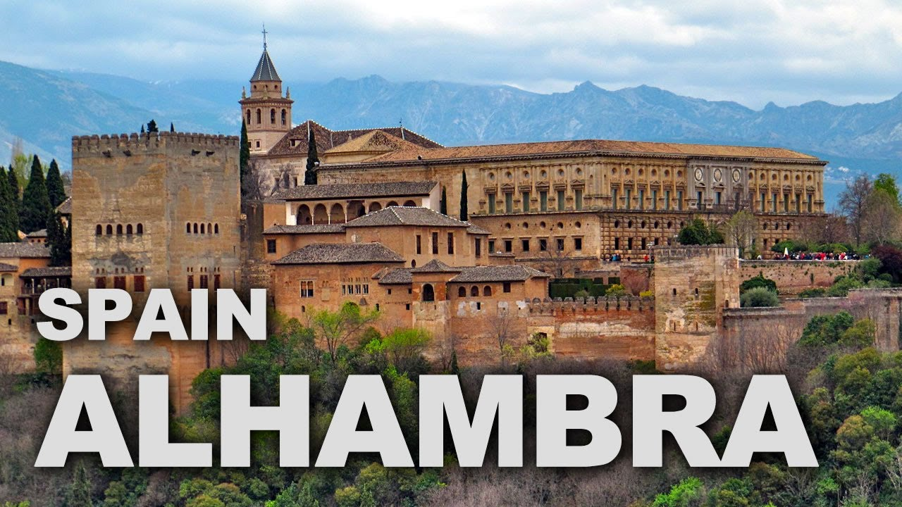 alhambra palace and fortress complex in granada spain youtube