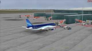 Baki-Istanbul AZAL Airbus A320 FSX