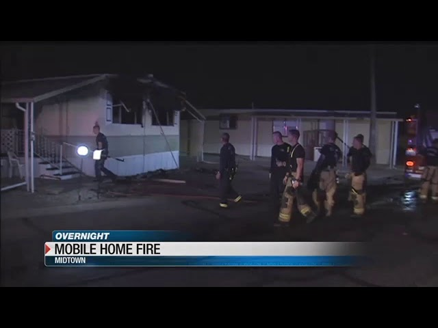 Man using propane torch on spiders suspected of starting mobile home fire