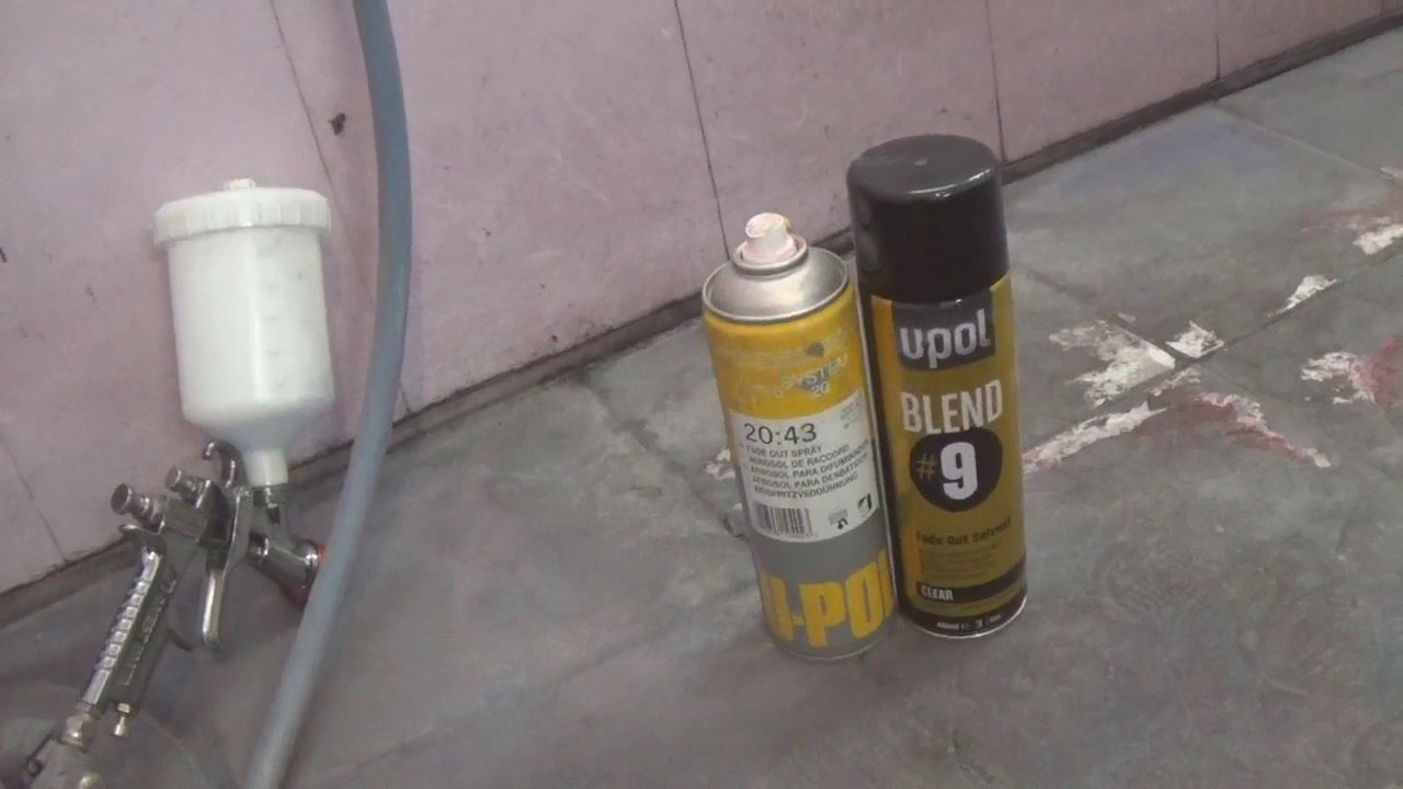 покраска куска бампера за 20 минут.