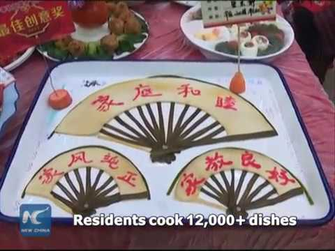 Grand feast with over 12,000 dishes to celebrate upcoming Chinese New Year