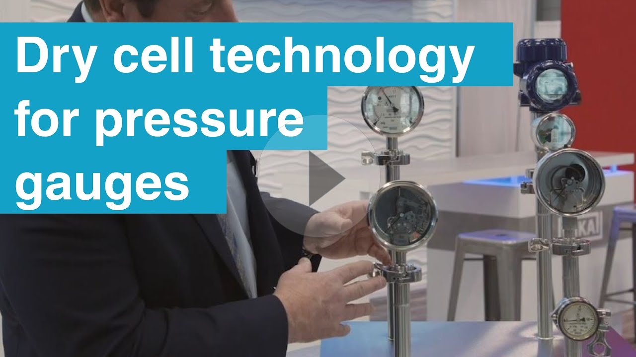 Diagnostics and Contamination Prevention with WIKA Dry Cell Technology for Sanitary Pressure Gauges