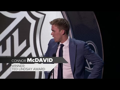 McDavid takes first trophy of the night with Ted Lindsay Award