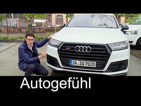 The best SUV? Audi SQ7 TDI 435 hp V8 FULL REVIEW test driven & Sound new neu