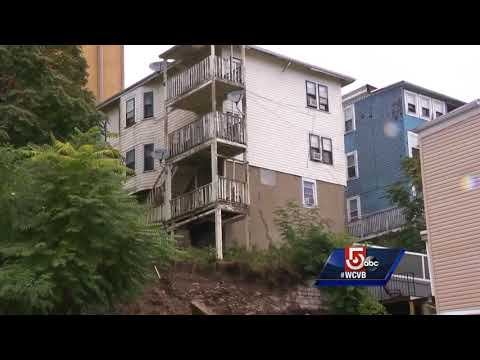 Video shows wall collapse in East Boston