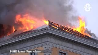 Incendie à la mairie d'Annecy