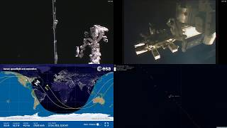 Sunset Over North America - NASA/ESA ISS LIVE Space Station With Map - 322 - 2018-12-12